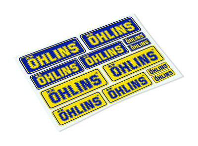 OHLINS STICKER SHEET Classic Retro Car Motorcycle Decals Stickers