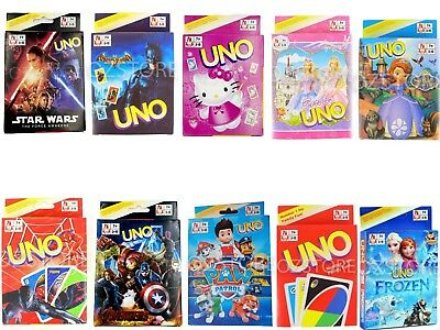 UNO Cards Family Fun Playing Card Educational Toy Board Game Different Themes