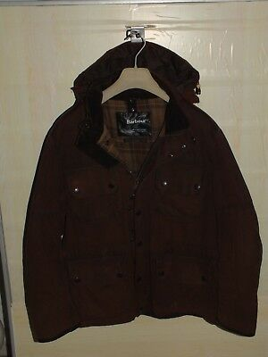 Barbour barnard jacket  waxed cotton  size  L