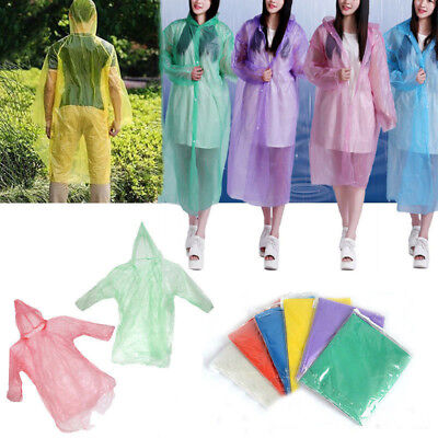Disposable Emergency Waterproof Rain Coat Poncho Children for Adult Hiking Camp