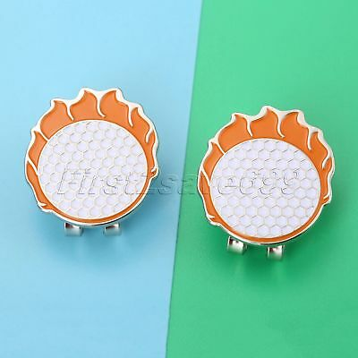 1Pc Fashion Stylish Golf Ball Magnetic Alloy Hat Clip With Golf Ball Marker Tool