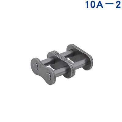#50-2 Double Strand Roller Chain 10A-2 Chain Connecting Link Full Link x 2Pcs