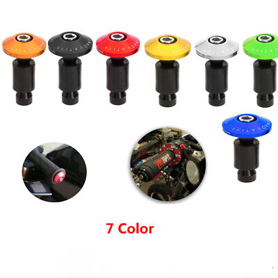 Handlebar Grips 7/8'' 22mm Motorcycle Dirt Bike Handle Bar End Cap Plugs Slider