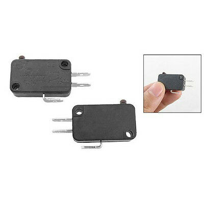 15HE 2 Pcs Black Pastic Eectric 1NO 1NC Contacts Push Button Micro Switch