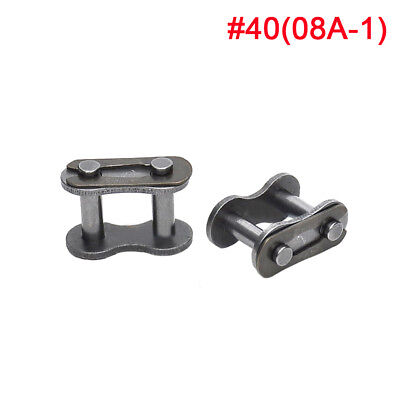 08B/08A #40 Roller Chain Connecting Link Full Link For #40 Chain x 10Pcs