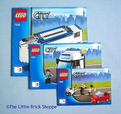 Lego City 7288 Mobile Police Unit Instruction Book 1 2 3 Only