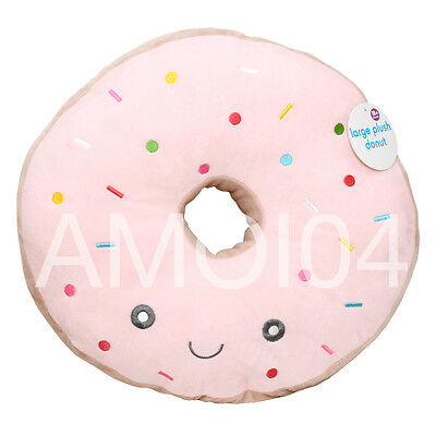 "Baby Kids Decor Donut with Icing Pillow Cushion For Bedroom 17""inch 44cm New"
