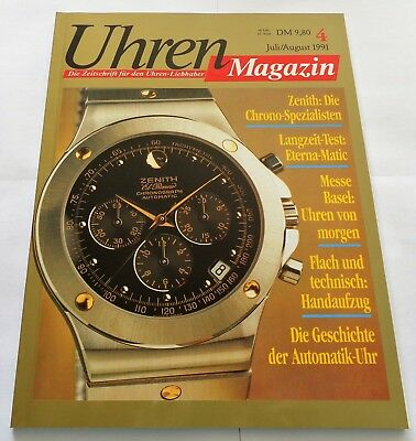 7225) Zenith Chrono Spezialisten Eterna Matic Messe Basel  in Uhren Magazin 1991