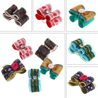 Pet Hair Clip Cute Hairpin Bow Knot Dog Puppy Cats Decoration Grooming Accessory