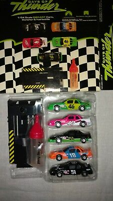 Days of Thunder 1:64 Scale Die Cast Race Cars Launcher and Fuel Bottle