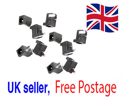 10x DC Power Supply Jack Socket DC-005 2.0mm Female PCB Charger Socket UK Seller