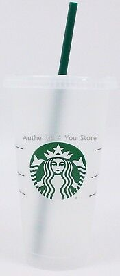 NEW Starbucks Siren Mermaid Reusable Plastic 24oz Cold Cup Venti w/ Lid & Straw