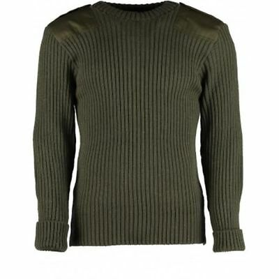 US Marine Corps USMC Green Knit Sweater Service Wool wooly pulley 40 Bravo