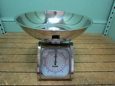 Dualit Silver Tone 5 Kg Kitchen Weighing Scales Mechanical Manual Y84