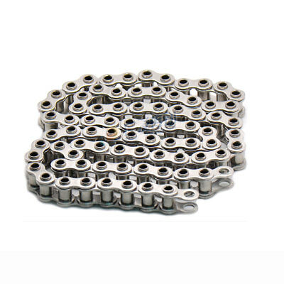 #40 40H 08B-1 Roller Chain Stainless Steel Hollow Pin Roller Chain x 1.5Meters