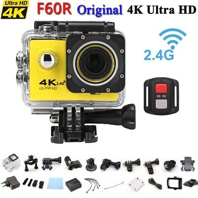 4K Ultra HD 1080P Wifi Wireless ActionCam Video Kamera Helmkamera Wasserdicht DE