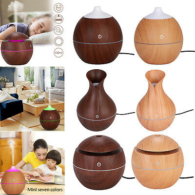 LED USB Intelligent Induction Wooden Grain Aroma Humidifier Ultrasonic Diffuser