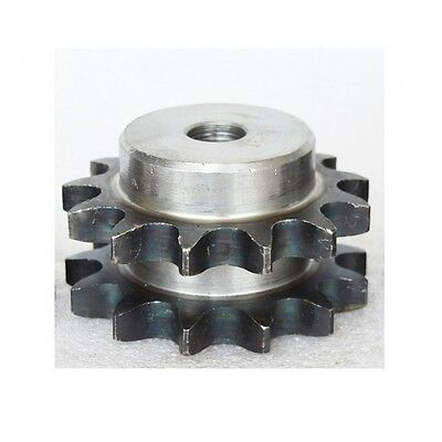 """#40 Chain Drive Sprocket 15T Double Strand Chain Sprocket Pitch 1/2"""" 08B15T"""