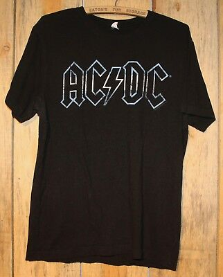 AC/DC Argentina '09 Tour Flag Colour Logo Rock Festival T-Shirt Size Large +