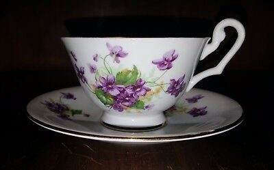 Vintage Clarence Tea Cup and Saucer Floral Pattern No 585 England