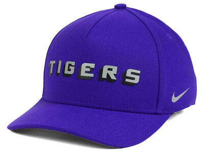 size 40 be318 119a2 LSU Tigers Nike NCAA Local DNA Verbiage Swoosh Flex Cap Hat 034056 One Size   28