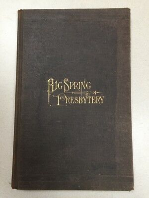 History of the presbyterian collection world america britain history of the big spring presbytery of the united presbyterian church 1st ed fandeluxe Gallery