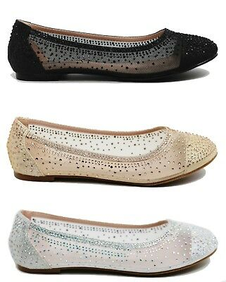 23f989069 Women s Comfort Round Toe Flat Shoes Wedding Prom Event Party Shoes Size 6  - 10