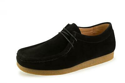 New Mens Winter Casual Lace Up Fashion Ankle Yellow Leather Black Suede Shoes