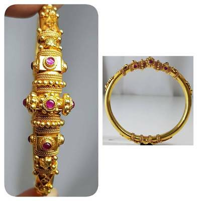 22 karat Gold Old Mughol  Ruby Stone Rare Lovely Bangle    #S2