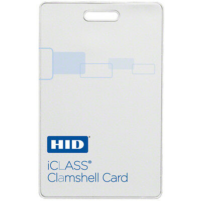 HID 2080PROG iClass Card - 10/100/500/1000 Cards Clamshell Contactless Smart