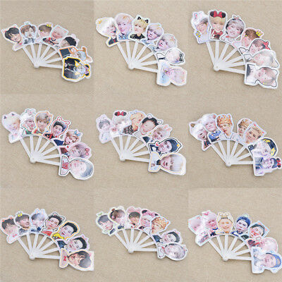 Kpop Design Portable Mini Hand Fan Summer Portable GOT7 Member Jackson JB Mark