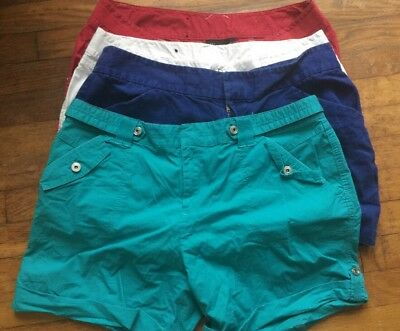 "INC International Concepts Womens Size 12 Red,white,blue,teal Shorts ""Lot Of 4"""
