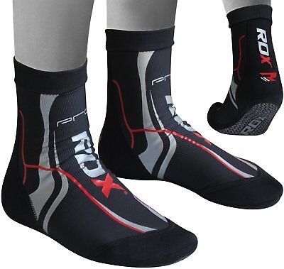 Authentic RDX MMA Grip Training Fight Socks Boxing Foot Ankle Shin Boots Shoes M