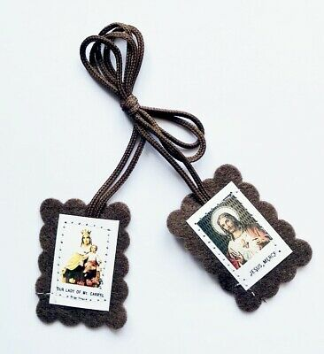 Brown Scapular - Mary Marian Consecration - Carmelite / Sacred Heart