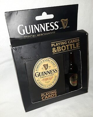 Guinness Novelty Beer Bottle & Playing Cards