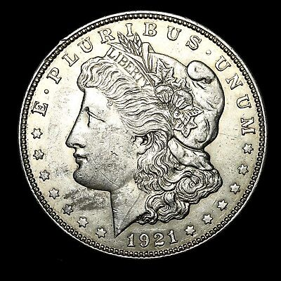 1921 D ~**ABOUT UNCIRCULATED AU**~ Silver Morgan Dollar Rare US Old Coin! #C29