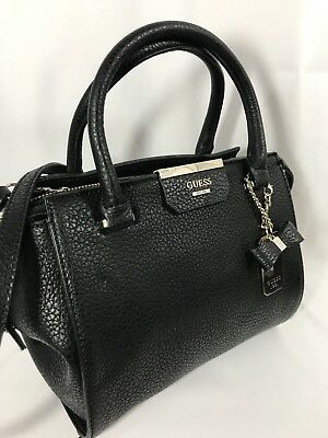 GUESS RYANN SOCIETY BLACK Satchel Bag Msrp $118.00 #VG668323