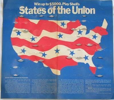 18 Different Shell 1969 STATES OF THE UNION Game Coins in ORIGINAL FOLDER