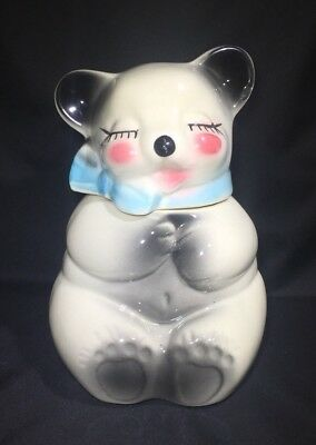 "Vintage American Bisque ""Sleepy Bear"" Cookie Jar"
