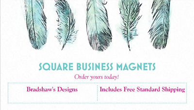 """25 Custom Square Business Magnets 3.5"""" X 2.0"""""""