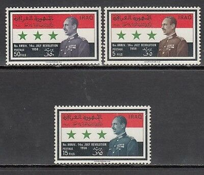 Iraq - Mail Yvert 448/50 Mh Marshal Aref