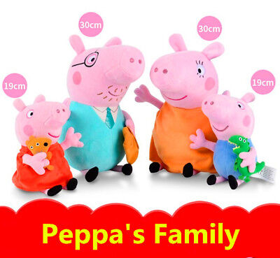 Peppa Pig Full Family George Daddy & Mummy 30cm 19cm Plush Soft toys Gifts Xmas
