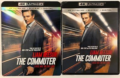 The Commuter 4K Ultra Hd Blu Ray 2 Disc Set + Slipcover Sleeve Free Shipping
