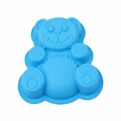 3D DlY Bear Shape Silicone Cake Mold Cartoon Baking Tools Cake Moulds 17*15*3cm