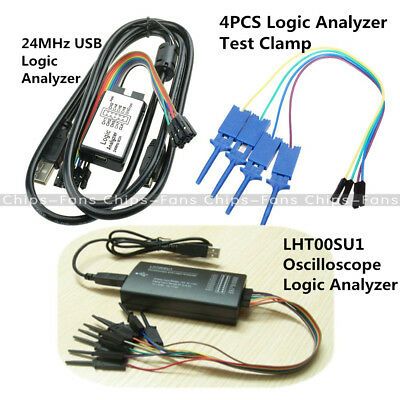LHT00SU1 Virtual Oscilloscope USB Logic Analyzer Device I2C SPI 24MHz for M100