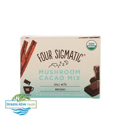 Seta Hot Cacao con Reishi Four Sigmatic 10 Packets Antioxidante, Sleep