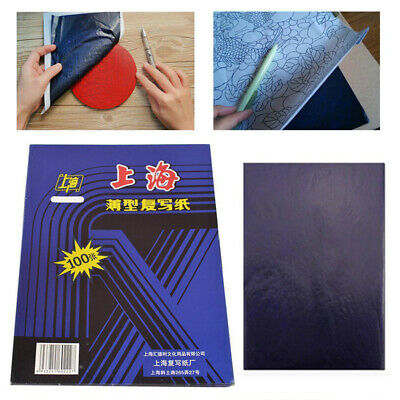 100 Sheets A4 Dark Blue Carbon Hand Stencil Transfer Paper Hectograph Repro Kit