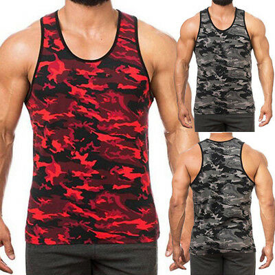 USA Mens Camouflage Tactical Military Top Army Camo Tank Top Muscle Shirt