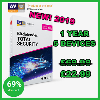 [Activation CODE] Bitdefender Total Security Multi-Device 2018:1 year,5 devices