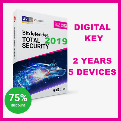 [KEY] Bitdefender Total Security Multi-Device 2019,2018 + VPN: 2 years,5 devices